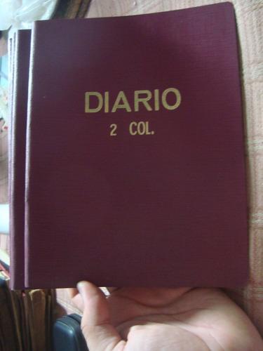 Antiguo Cuaderno Diario De 40 Hojas 2 Columnas Impecable