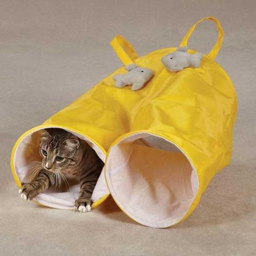 Tunel Para Gatos Perro Huron En Forma De Pantalones Juego