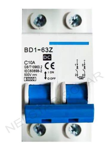 Disjuntor Bipolar Dc Cc 500v 10a 16a 20a 25a 32a 40a 63a