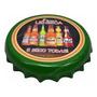 Placa Decorativa Tampa Garrafa Grande Lei Seca 30x5 Ceramica