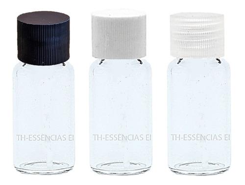 50 Flaconetes Vidro 5ml C/ Tampa Amostra De Perfume.