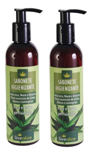 Sabonete Intimo Higienizante Vegano Face E Corpo Livealoe