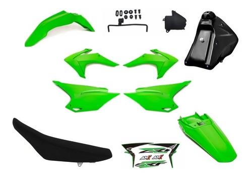Kit Roupa Crf 230 Adaptavel Xr200 Tornado Bros Xtz Verde Ful