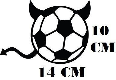 Adesivo Decalque Bola Devil Futebol C Frete Grátis