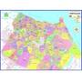 Mapa Fortaleza Turístico 120x90cm Atualizado