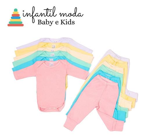 Kit C/ 10 Body Infantil Menina E Menino Bore Bebê