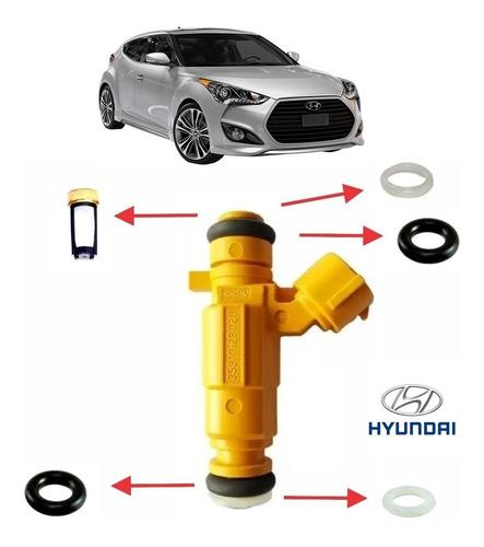Kit Completo Reparo Bico Injetor Hyundai Veloster 1.6 16v