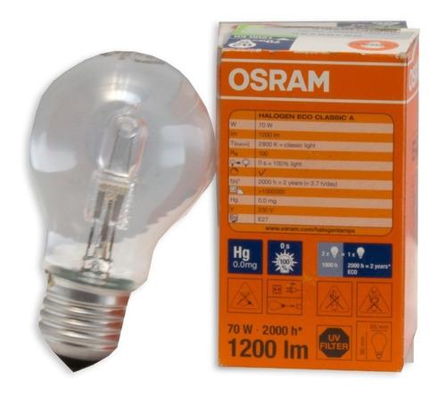 Foco Halógen Eco Classic A Osram 70w 230v