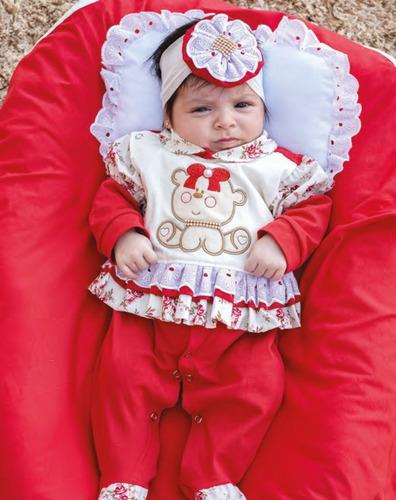 Saída Maternidade Menina Cecília  4 Peças Cor 2