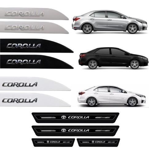 Kit Friso Lateral E Soleira Adesivo Corolla Altis 2020 2021