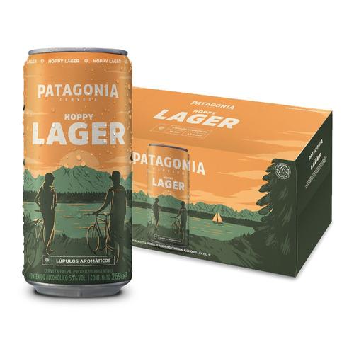 Cerveza Patagonia Hoppy Lager Rubia Lata 269ml 10 U