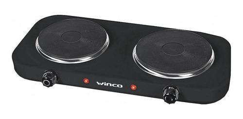 Anafe Eléctrico Winco W41 Negro 220v