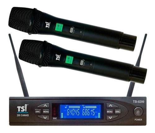 Microfones Sem Fios Tsi 8299-uhf Supercardióide
