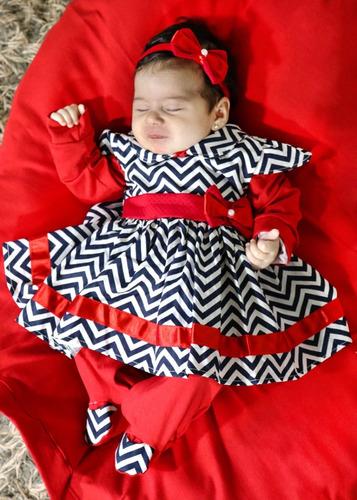 Saída De Maternidade Menina Vermelha  Rebeca