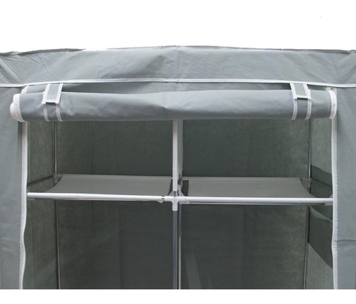 Large Portable Closet Stamped Cover Gray R87 - Ecart