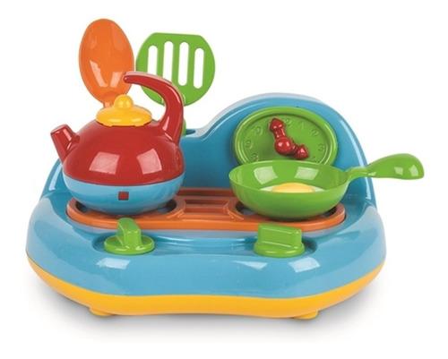 Fogão Cozinha Infantil Completa Menina Panela Utensílios