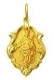 Medalha 1.5cm Santa Barbara Ouro 18k Pingente Original