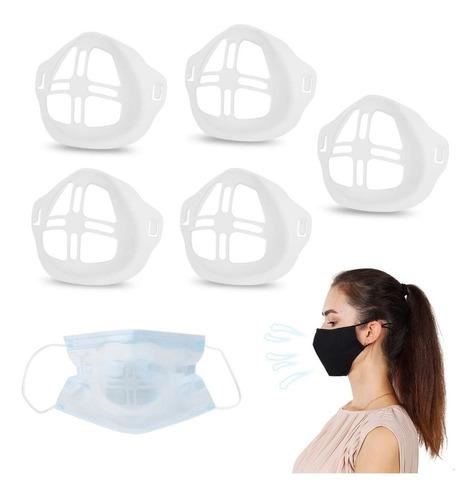 Suporte De Máscara 3d 5pc Respirando Suavemente Reutilizável