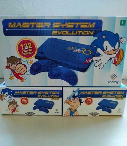 Console Tectoy Sega Master System Evolution Azul 132 Jogos