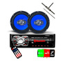 Radio Mp3 Bluetooth Fm 1 Par De Falantes 6 Antena