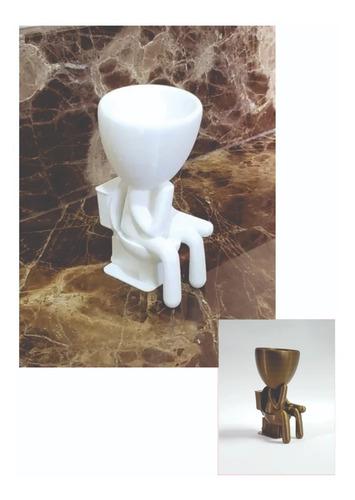 Vaso Decorativo Robert Plant Banheiro Suculentas ( Mod 6 )