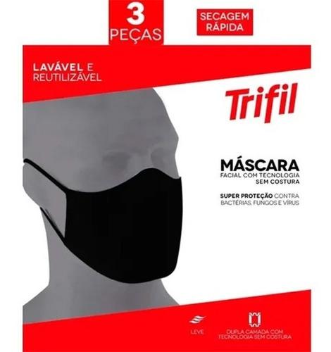 Máscara Trifil (03unid )- Preta