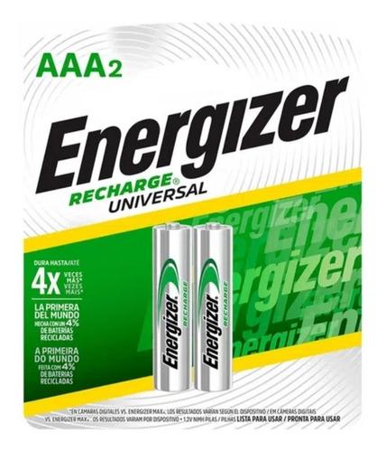 Pilas Baterias Recargables Energizer Aaa X 2, 700 Mah