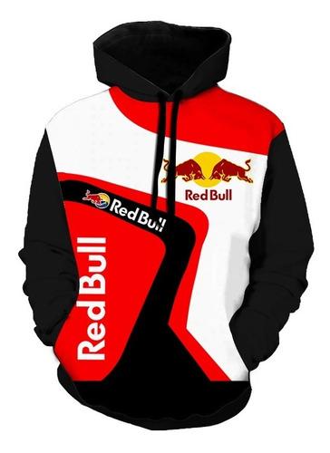 Blusa Moletom Full Casaco Estiloso Casual Red Bull Top M3