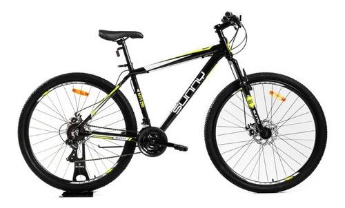 Mountain Bike Sunny Mts 290 R29 Sm 21v Frenos De Disco Mecánico Cambios Sun Run Y Shimano Tourney Color Negro/amarillo