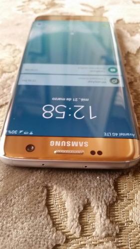 Vendocambio Samsung S7 Edge Dorado 10/10 Full Imei Original