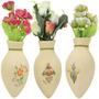 Emblema Painel Vaso Flor Vasinho Decorativo Acessório Fusca