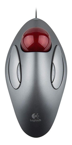 Mouse Trackball Logitech  Trackman Marble Gris