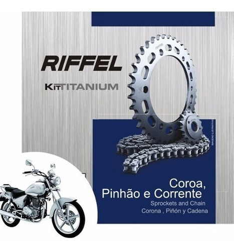 Kit Relação Riffel Titanium Para Dafra Kansas 150