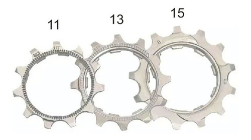 Kit Cog 11v (11, 13 E 15 Dentes) Para K7 Shimano Ou Sunrace
