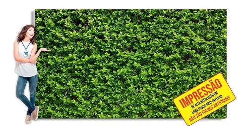 Painel Festa Muro Inglês Folhas Tropical Outono Fosco 2x2 M
