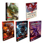 Kit Dungeon Dragons 3 Livro Escudo E Starter Portugues Rpg