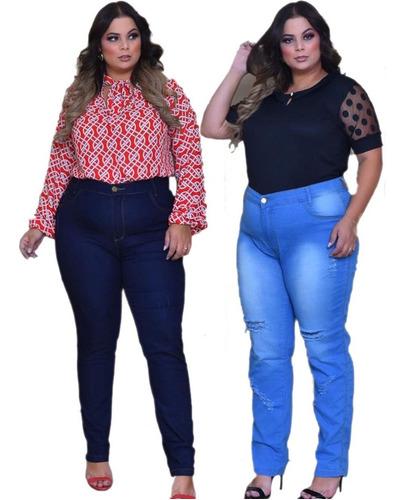 Exg 2 Calças Jeans Feminina Exg Barata Com Lycra(elastano)