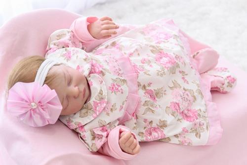 Saída De Maternidade Bebê Menina Delicate Creme