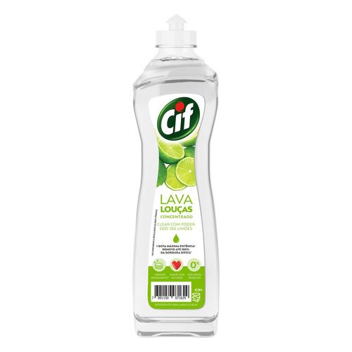 Detergente Cif Clear Poder Dos 100 Limões Líquido Em Squeeze 420ml