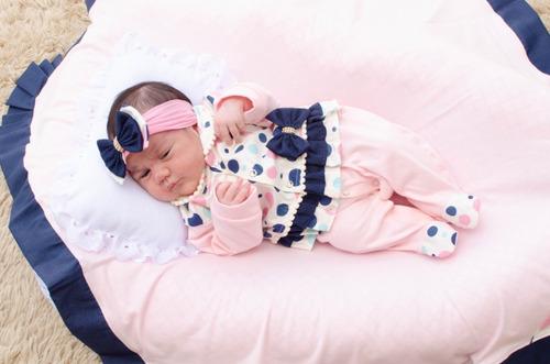 Saída De Maternidade Menina Duda Cor 5 Nova 4 Peças