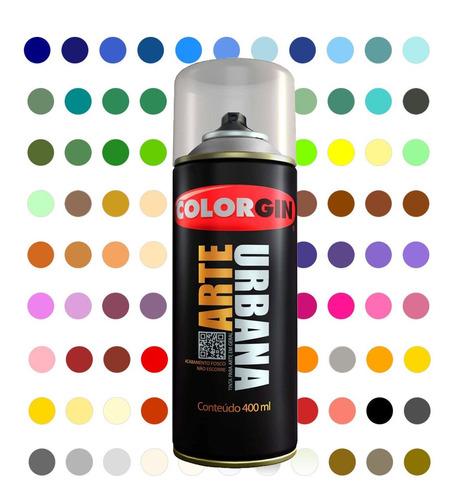 Tinta Spray Arte Urbana Colorgin 100 Cores Para Escolher