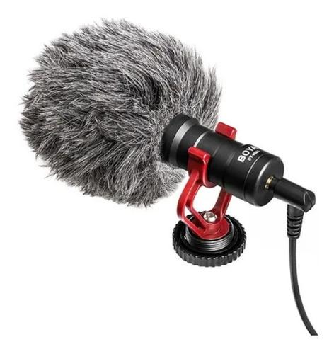 Microfone Boya By mm1 Compacto Para Dslr E Celular