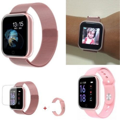 Relógio Smartwatch T80 + 2pulseiras + Película + Garantia