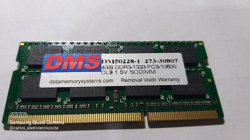 Memória Ram 4gb R1333 Para Notebook