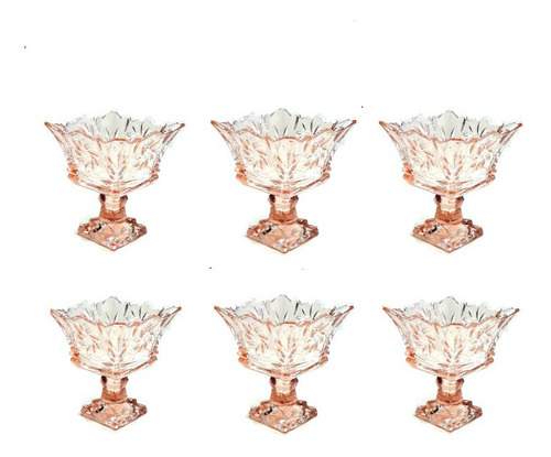 Taça De Sobremesa Vidro Persa 6 Pecas Persian Glass Promocao