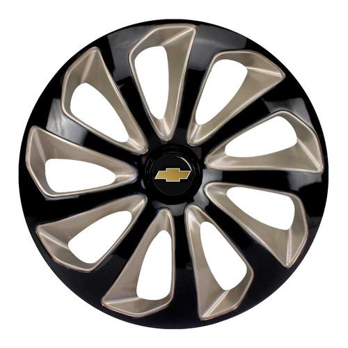 Calota Aro 15 Cobalt Spin Vectra Zafira Preta Dourada Velox