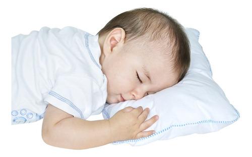 Almohadita Bebé Antialérgica  Maternelle- Celeste