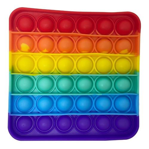 Pop-it Fidget Toy Empurre Bolha Autismo Anti-stress Colorido