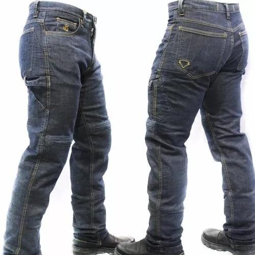 Calça Jeans Com Proteção Motociclista Hlx Carpinteiro