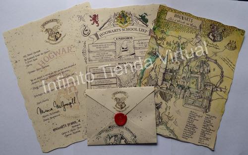 Harry Potter Cartas De Aceptación De Hogwarts Personalizada